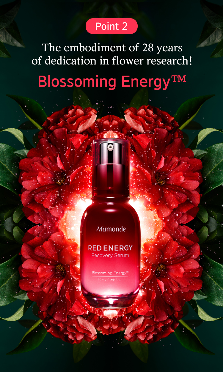 Point 2 The embodiment of 28 years of dedication in flower research! Blossoming Energy™