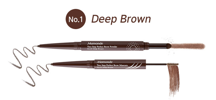 Two Step Perfect Brow Powder 1호 Deep Brown